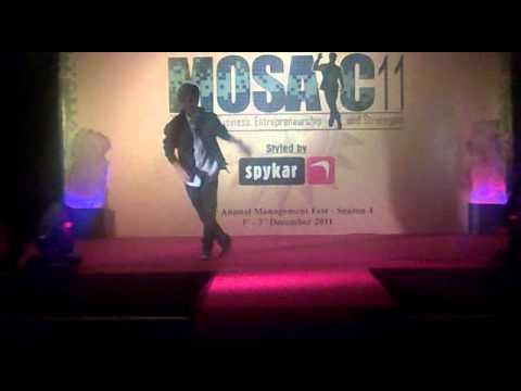 Dance performance by my best friend at Delhi Business School