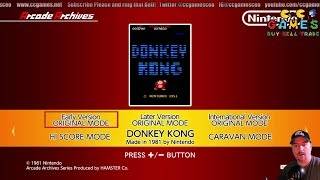 Donkey Kong Arcade on the Nintendo Switch quick review!