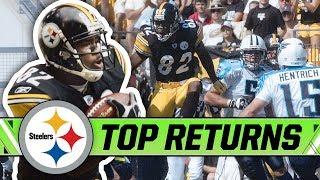 Antwaan Randle El's Top Returns on #TaxDay   Pittsburgh Steelers Highlights