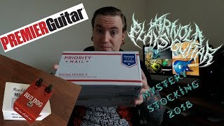 Baixar Premier Guitar Mystery Stocking 2018 Unboxing + Rockbox Red Dog Review + GIVEAWAY ANNOUNCEMENT!!!