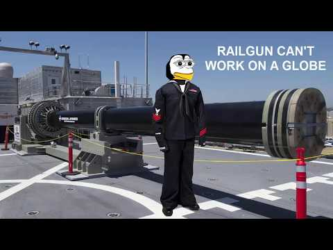 US NAVY RAIL GUN CAN'T WORK ON A GLOBE