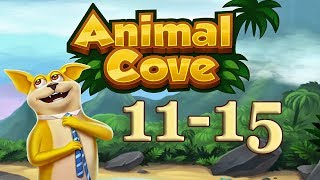 Animal Cove level 11 - 15 Solve Puzzles & Customize your Island