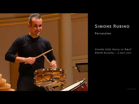 Simone Rubino, drums • BOZAR Sundays on March 5th, 2017