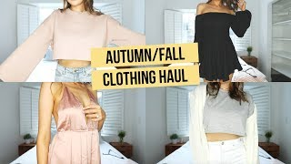 FALL TRY-ON CLOTHING HAUL (FT. BLONDEST MOMENT EVER HAHA)