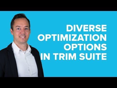 Diverse Optimization Options in TRIM SUITE by T.CON | Software Demo