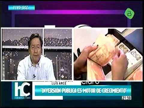 Ex Ministro de Economia Luis Arce Catacora explica la economia de Bolivia
