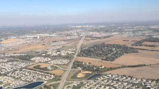 Landing at Eastern Iowa Airport in Cedar Rapids, Iowa