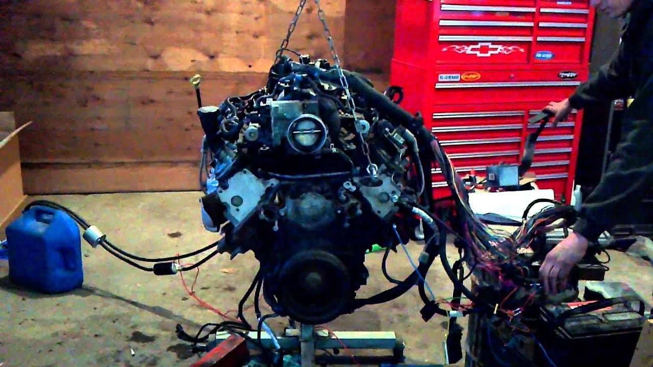4 8 5 3 Ls Engine Running On Stand Turbo Build