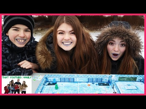 IceCool Trick Shot Tag - Chasing The Runners In The Snow! / That YouTub3 Family I Family Channel