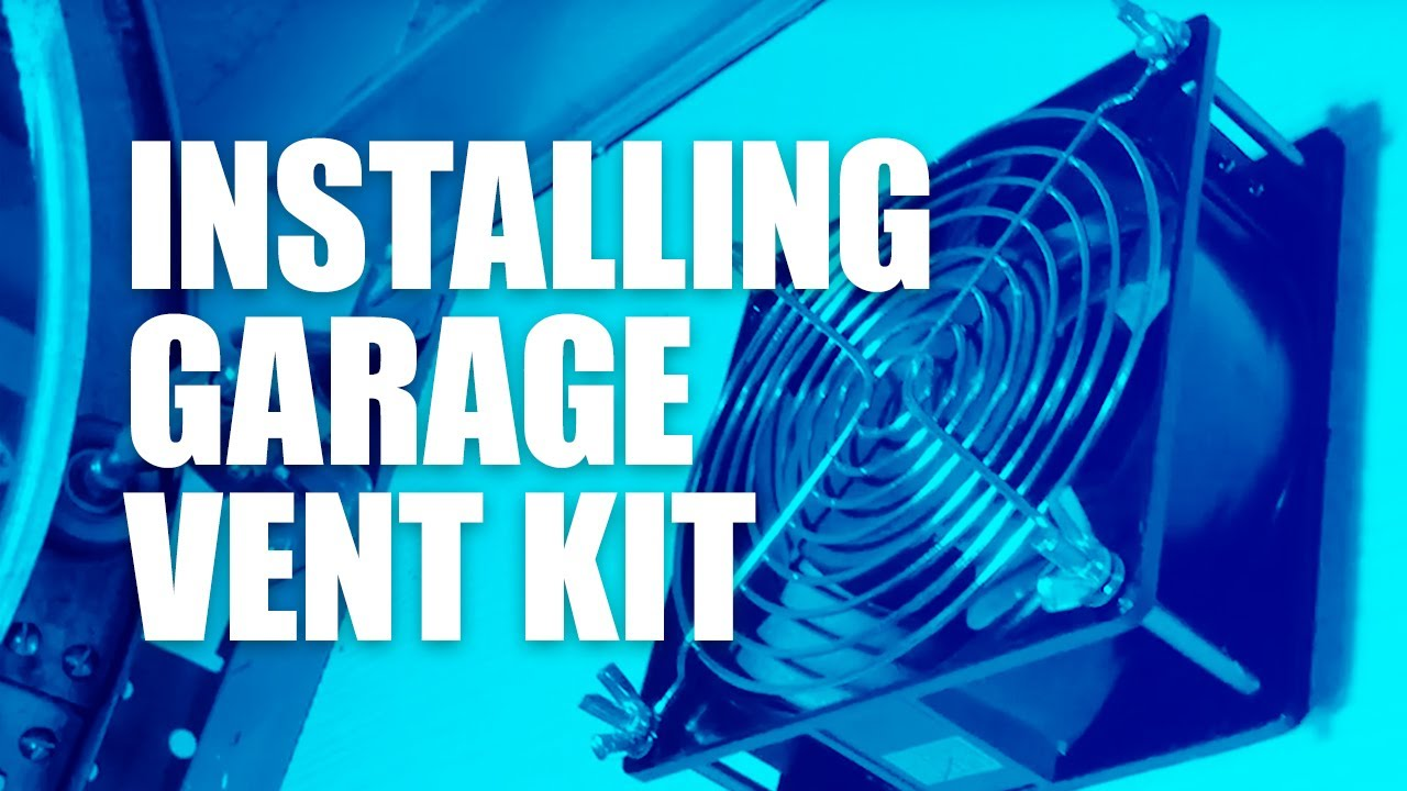 how to install a garage exhaust and vent system vent a garage vg200 diy