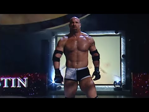 Goldberg enters the arena for his match against Chris Jericho: Bad Blood 2003