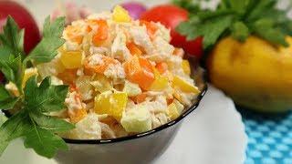 Быстро и вкусно | Салат с ананасом и курицей | ПРОСТОЙ рецепт