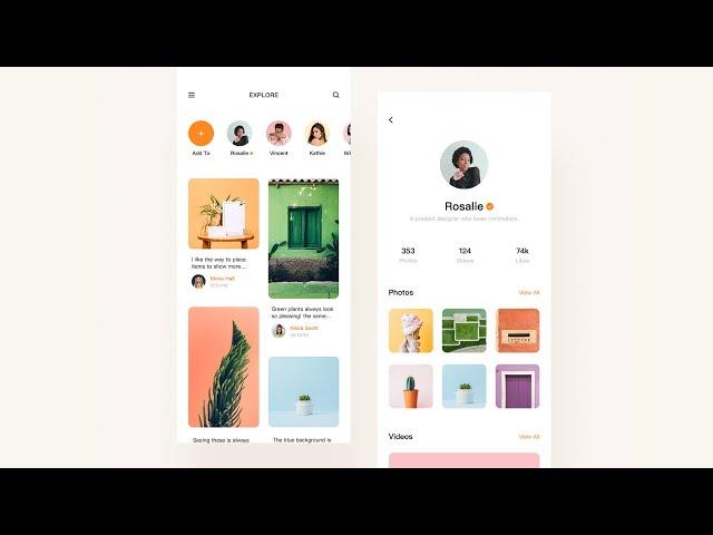 Flutter UI - Minimal, clean designs