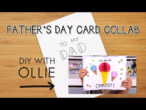 DIY Father's Day Card with DIY with Ollie ~Collab | Doodle with Me