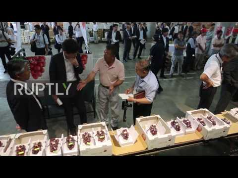 Japan: Expensive tastes! World's priciest grapes auctioned in Kanazawa