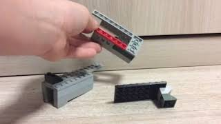 Как сделать пистолет из Лего который взводится . Без деталей техник