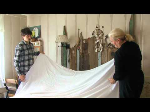 How to Make a Bed with a Linen Sheet