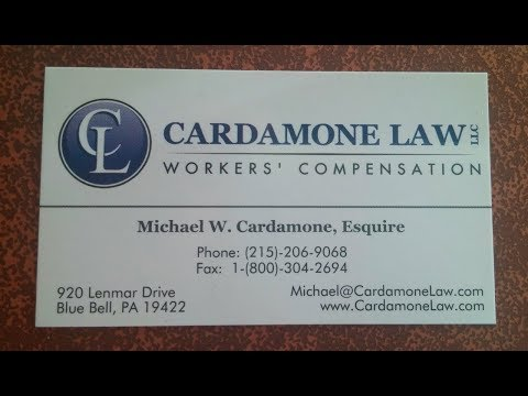 Pennsylvania Work Comp Settlements- The Cardamone Law Firm, LLC For Injured Workers (215) 206-9068
