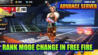 Rank mode change in free fire Advance server OB18 update details MG MORE