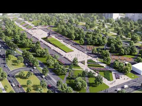 3D Визуализация проекта реконструкции эспланады в городе Пермь.