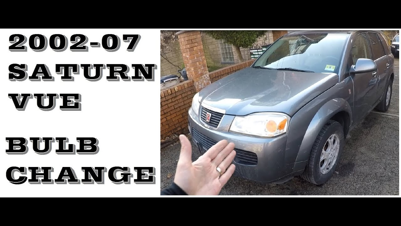 How To Change Headlight Bulbs In Saturn Vue