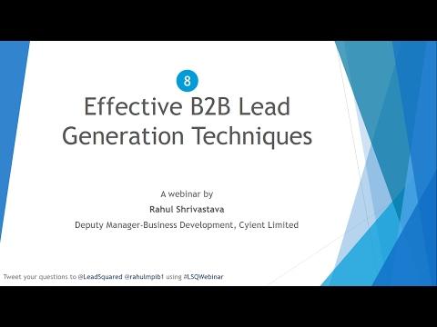 8 Effective B2B Lead Generation Techniques