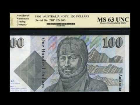 Australia banknotes Australian dollar notes money currency.