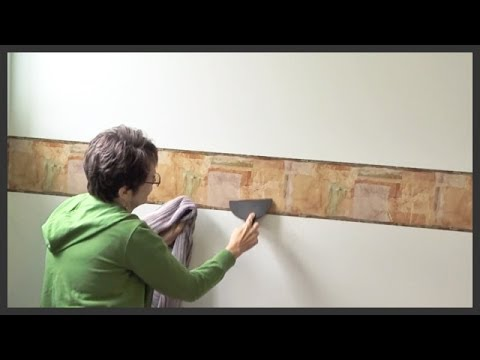 How to install prepasted wallpaper border & How to install prepasted wallpaper border - YouTube