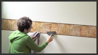How to install prepasted wallpaper border