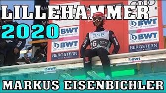 Skispringen: Markus Eisenbichler springt auf zweiten platz in Lillehammer (beide Sprünge)