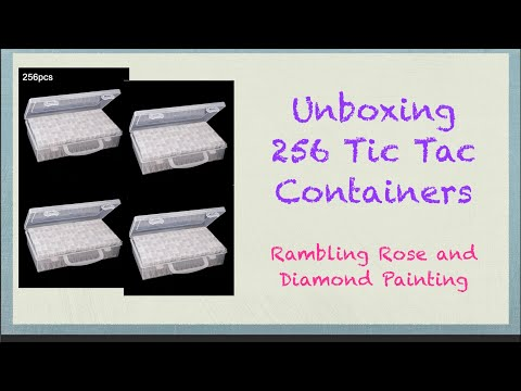 Unboxing 256 Tic Tac Containers for Diamond Painting Drills