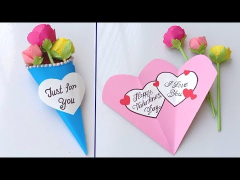 Happy Valentine's Day / Handmade easy card Tutorial
