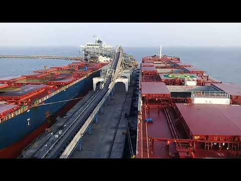 How do we load and discharge coal on ships?