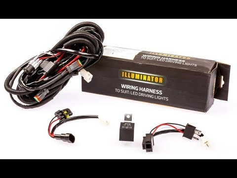 how to install wiring harness led light bar
