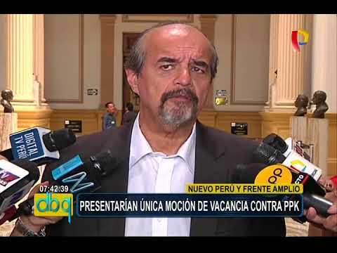 Nuevo Perú y Frente Amplio presentarían única moción de vacancia contra PPK
