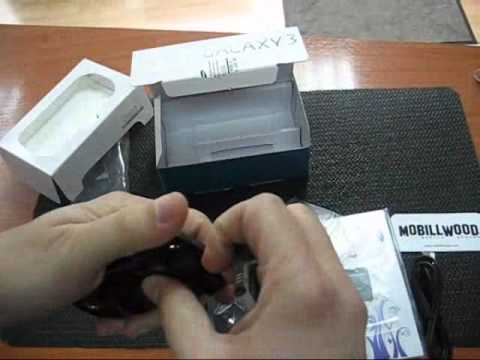 Samsung I5800 Galaxy 3 unboxing
