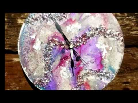 Making a resin clock