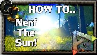 ARK: Survival Evolved - NERF THE SUN!! How to remove Bloom/Glare/God Rays!