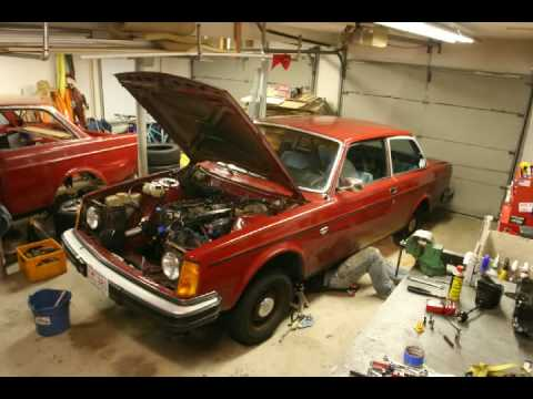 volvo 242 t5 engine removal time lapse youtube. Black Bedroom Furniture Sets. Home Design Ideas