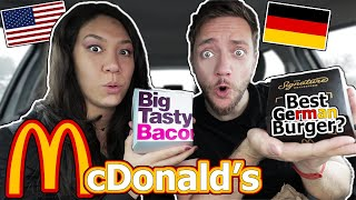 American Wife Tries GERMAN McDonald's (Better than USA?)