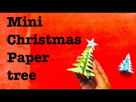 Easy christmas paper tree 3d - paper crafts for christmas  for kids new idea