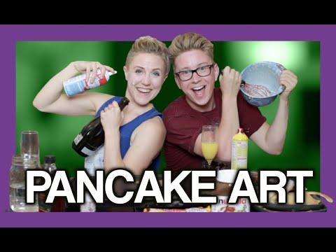 Pancake Art FAIL (ft. Hannah Hart)   Tyler Oakley
