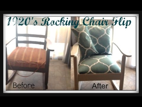 1920s rocking chair bungee sports authority 1920 s flip restoration youtube