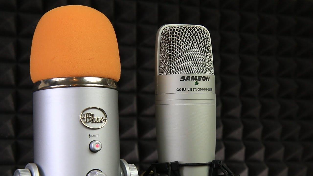blue yeti vs samson c01u usb microphone sound test youtube. Black Bedroom Furniture Sets. Home Design Ideas