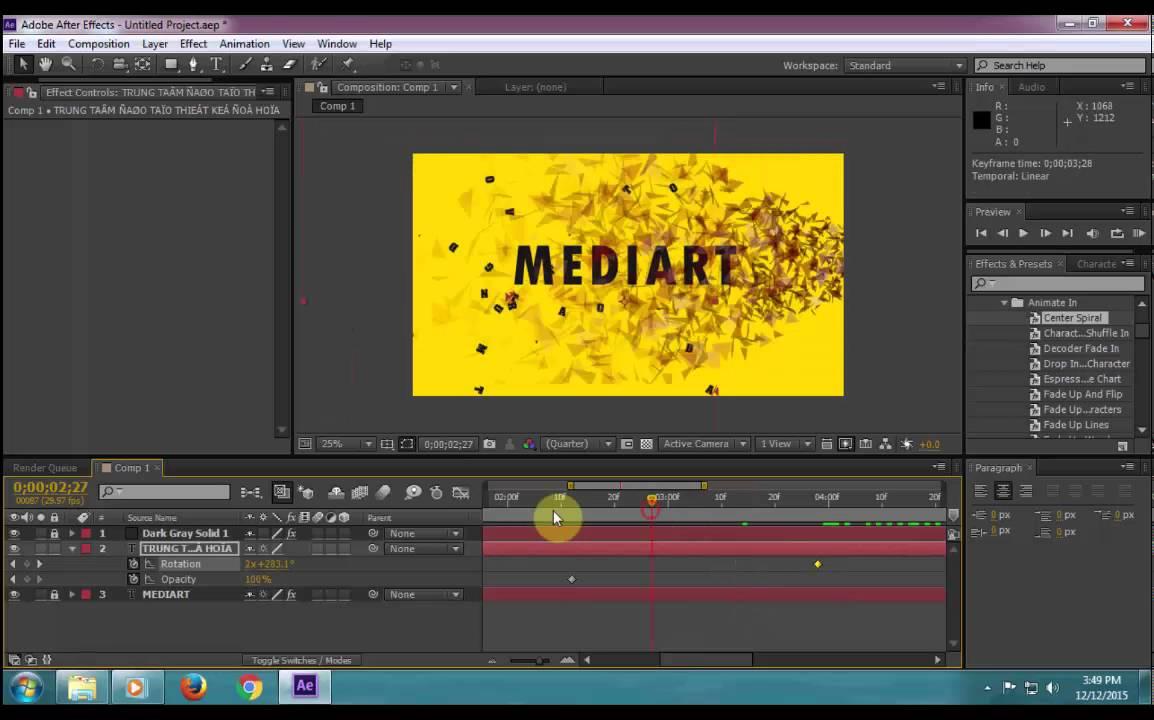 Học After Effect: Hướng dẫn làm video intro giới thiệu