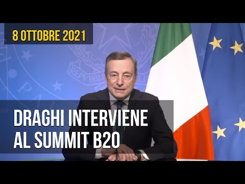 Draghi interviene al Summit B20