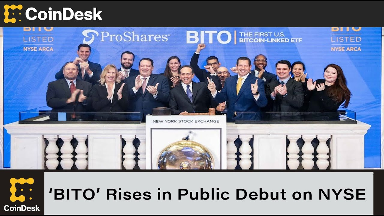 First bitcoin futures ETF rises 4% in trading debut on the NYSE