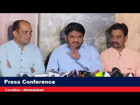 Hardik Patel -Today's Live Press Conference Ahmedabad | hardik patel | latest | 22-Nov-2017