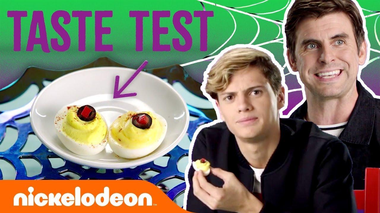 Jace Norman & Cooper Barnes Taste Test🍬Halloween Treats | #NickStarsIRL