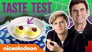 Jace Norman & Cooper Barnes Taste Test🍬Halloween Treats | #NickStarsIRL
